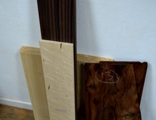 Fagiolone II, STEP 1: la scelta dei legni